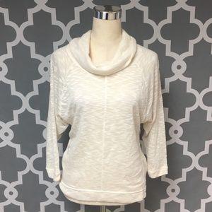 Cream Light Weight Cowl Neck Sweater